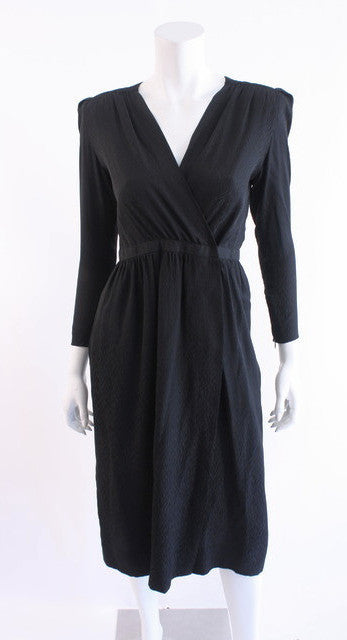Vintage 80's Christian Dior Silk Wrap Dress