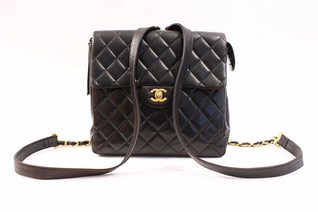 Vintage Chanel lambskin backpack