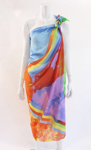 Rare Vintage GIANNI VERSACE Silk Shawl Parero ON LAYAWAY