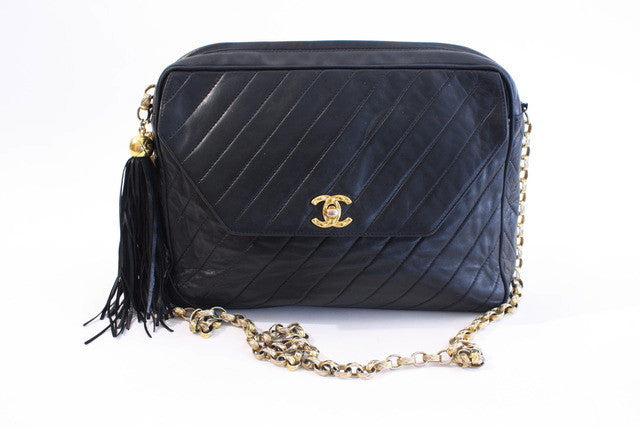 Vintage Chanel Jumbo Cross Body Flap Bag