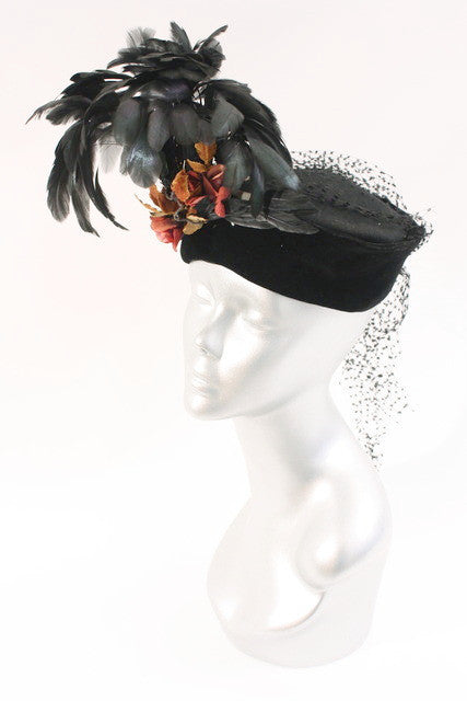 Vintage Hat with Feathers