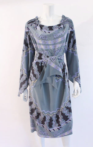 Vintage 70's ZHANDRA RHODES Silk Dress