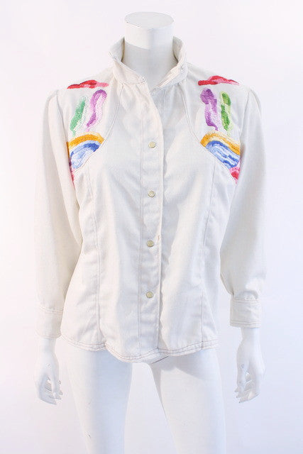 Vintage s embroidered denim jacket at rice and beans