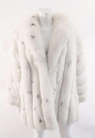 Vintage SAGA Spotted Blush Dyed Fox Fur Coat