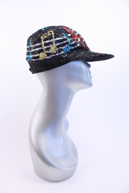 Vintage Sequin Baseball Hat