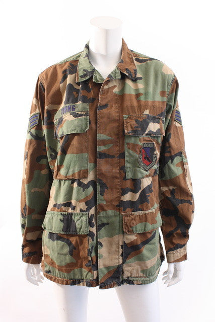 Vintage Camouflage Jacket with Patches