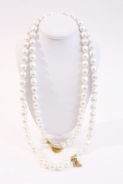 Set of 2 Vintage Anne Klein Pearl Necklaces