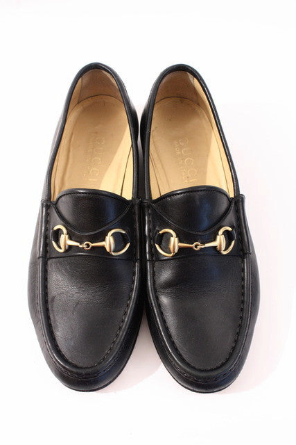 Vintage Gucci Black Loafers