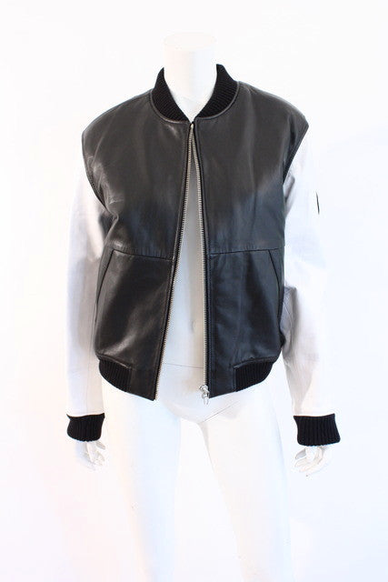 Alexander Wang Leather Bomber Jacket