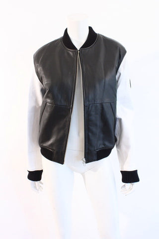New ALEXANDER WANG Leather Bomber Jacket