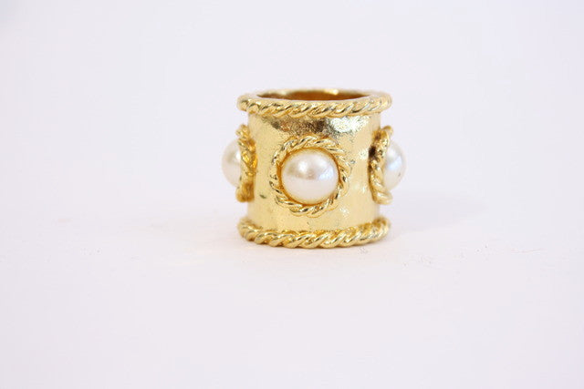 Vintage Gold & Pearl Ring