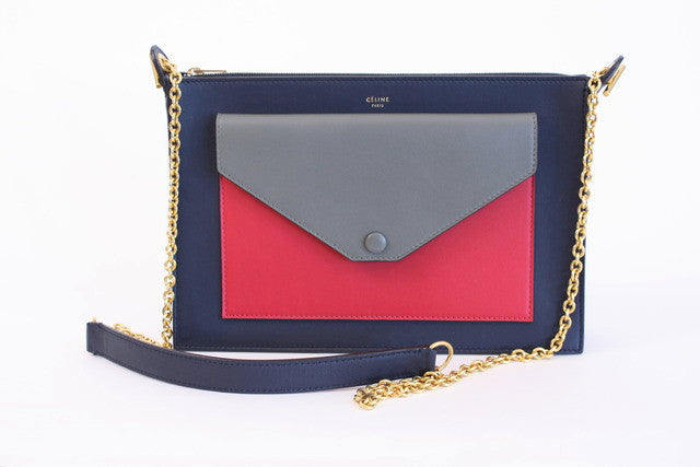 Celine Medium Pocket Clutch Handbag