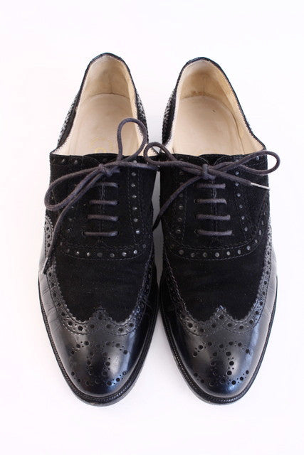 Vintage Chanel Brogues Spectator Flats