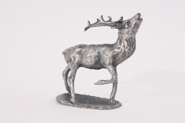 Vintage pewter stag statuette