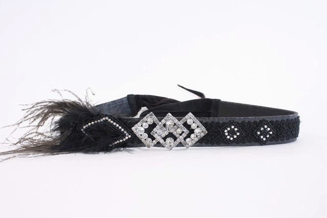 Vintage Lisandro Sarasola Rhinestone Feather Belt
