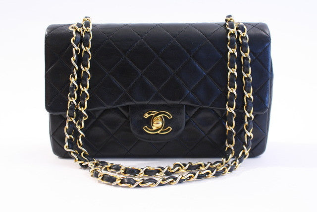 Vintage Chanel Black Double Flap Bag