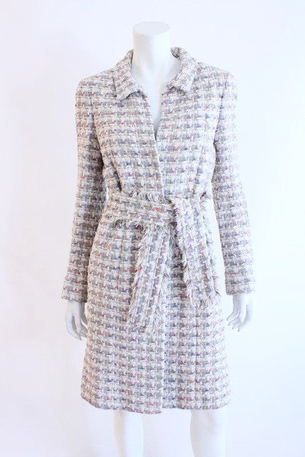 Vintage Chanel boucle tweed fringe jacket