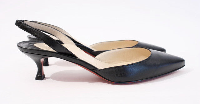 detailed look eb579 0b2e2 CHRISTIAN LOUBOUTIN Kitten Heel Mules at Rice and Beans Vintage