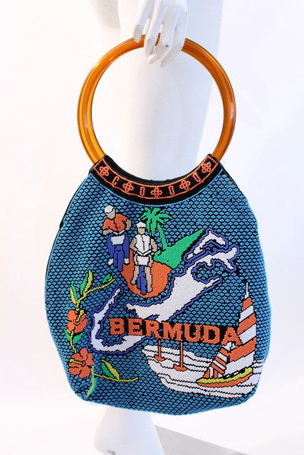 Vintage Bermuda Beaded Bag