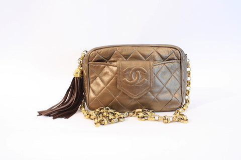 Vintage CHANEL Bronze Handbag ON LAYAWAY
