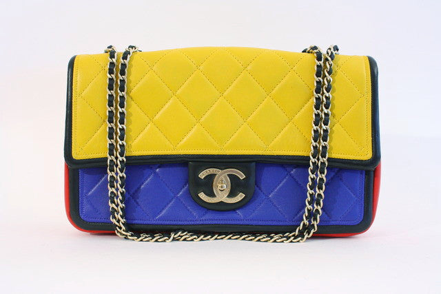 Chanel Multicolor graphic flap bag
