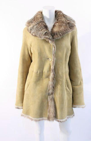COLE HAAN Shearling Coat