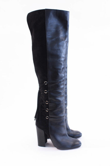 Schutz Over The Knee Tassel Boots