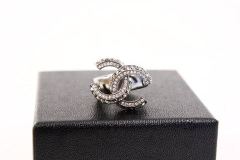 CHANEL Rhinestone Ring