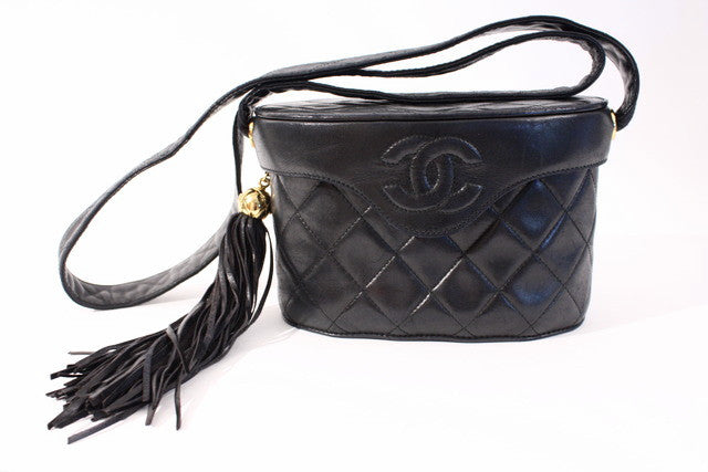 Vintage Chanel Black Camera Bag