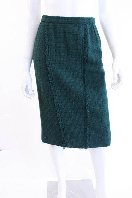 2803f027e1c6 Vintage CHANEL Fringed Skirt at Rice and Beans Vintage