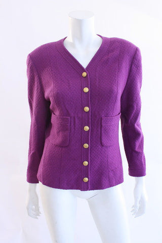 Vintage CHANEL Purple Boucle Jacket