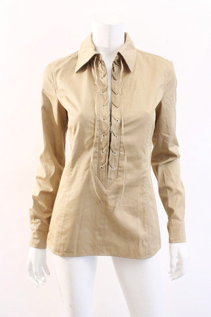 Yves Saint Laurent Lace Up Safari Shirt