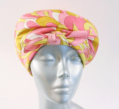 Vintage 60's YVES SAINT LAURENT Turban Hat