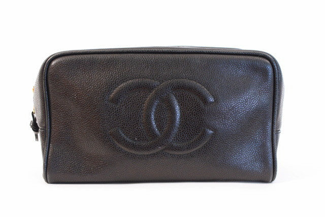Vintage Chanel Toiletry Bag Clutch