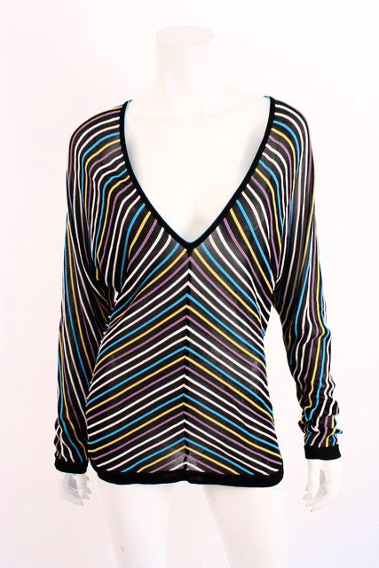 Missoni Chevron Striped Sweater Tunic