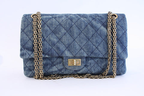 CHANEL 2.55 Reissue Denim Double Flap Bag