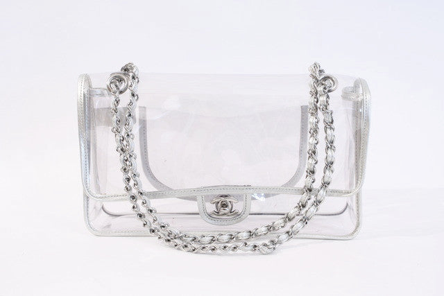 Vintage Chanel Naked Clear Vinyl Flap Bag