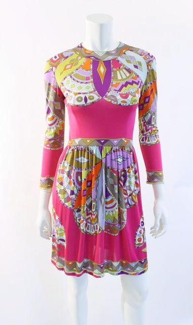 Vintage 60's Emilio Pucci Silk Jersey Dress
