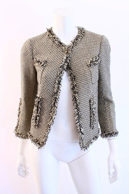 Chanel Tweed Jacket with Fringe