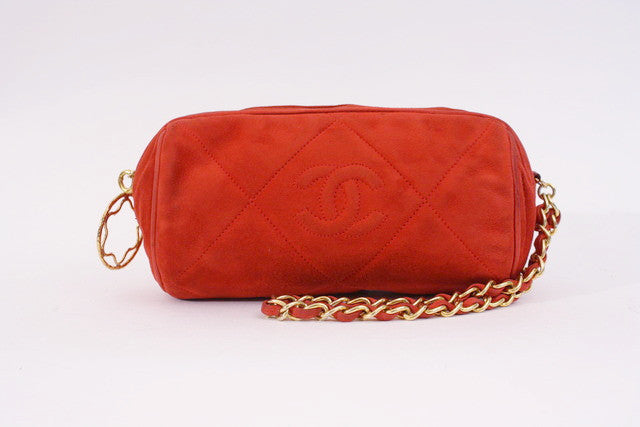 Vintage Chanel Red Clutch Wristlet