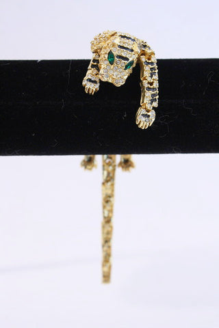 Vintage Jeweled Tiger Pin