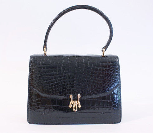 Vintage 70's Gucci crocodile bag