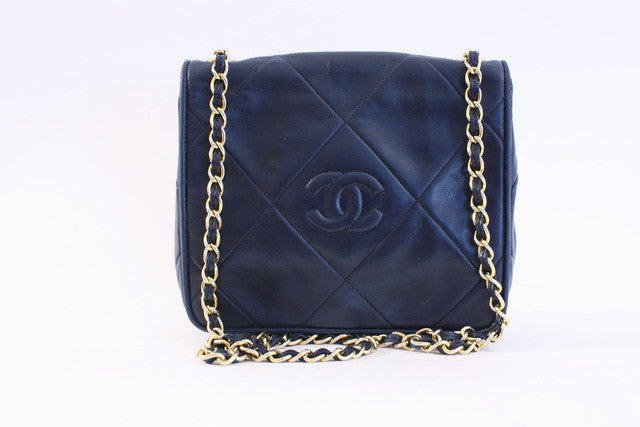 Vintage Chanel Navy Flap Bag
