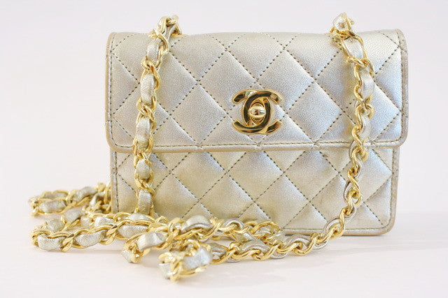 Vintage Chanel Gold Mini Bag