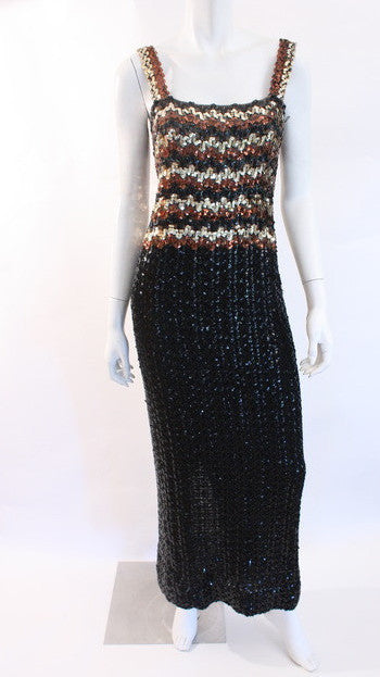 Vintage 70's Sequin Disco Dress