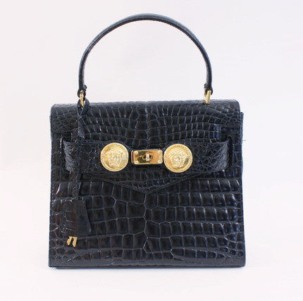 Vintage Gianni Versace Diana Crocodile Bag