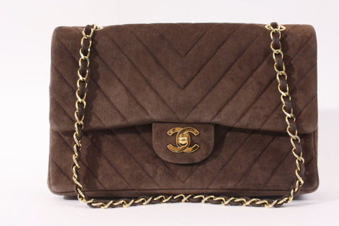 Rare Vintage CHANEL Chevron Double Flap Bag