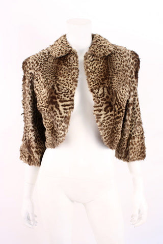 Vintage GEOFFREY CAT Fur Bolero Cape Jacket