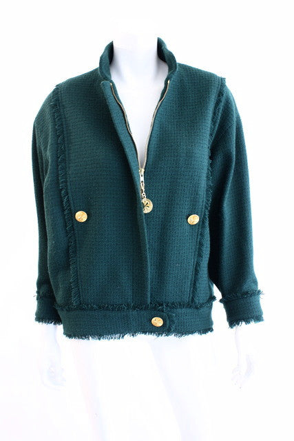 Vintage Chanel Fringed Boucle Jacket