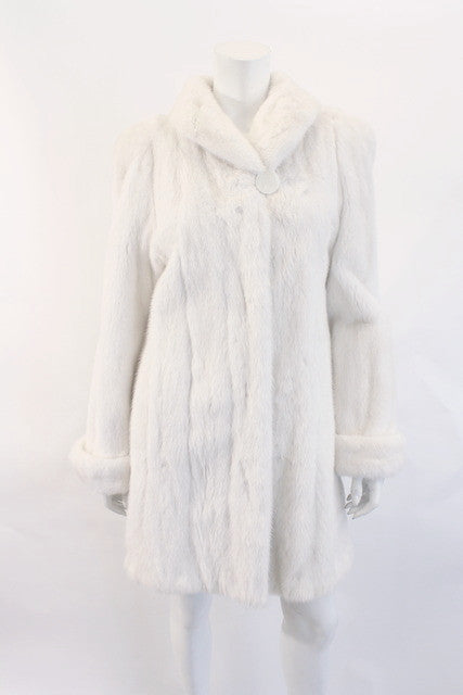 Vintage Maximillian Mink White Coat